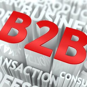Concept Featuring Business to Business Terms. B2B Word Cloud Concept.-1