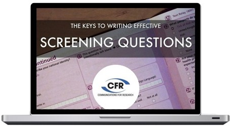 The Keys to Screening Market Research Respondents